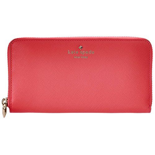 Kate Spade New York Women's Lacey Zip Around Continental Wallet Suprise Coral