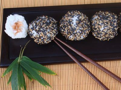Receta de Bolitas de arroz con salmón