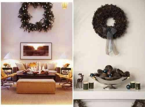 deux couronnes de Noël artificielles et bougies