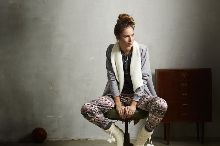 Nordic style 'touch of christmas' long Mix & Match violet quartz bottoms from Rebelle