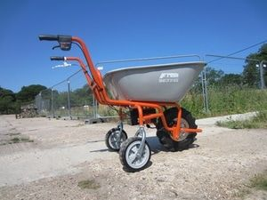 Electric Wheelbarrow for use in the garden. Electric Wheelbarrow for use in the garden. Sherpa electric wheelbarrows for moving soil, weeds, grass, garden debris, manure and more around the garden. For more info contact us at: http://www.fresh-group.com/electric-wheelbarrow.html