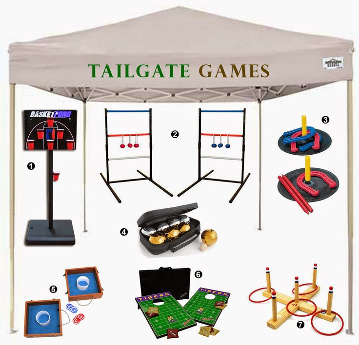 Tailgate Games for adults and kids!
