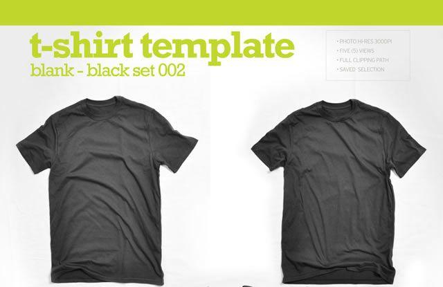 Hi-Res Blank Black T-Shirt Template (.jpg)