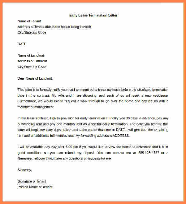 Landlord Lease Termination Letter Inspirational 7 Landlord Tenant Agreement To Terminate Lease Being A Landlord Lettering Lease