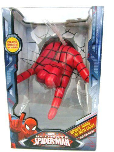 marvel ultimate spiderman spidey hand 3d deco light 3d. Black Bedroom Furniture Sets. Home Design Ideas