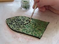 How to make Fairy Doors - shows how to use a texture sheet then how to apply pearl-ex powder for newbies. ~ Polymer Clay Tutorials