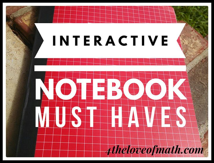 Interactive Notebook Must Haves | 4theloveofmath