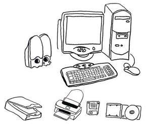 """Lexique informatique Niveau : A1 - A2 Thème : vocabulaire sur l'informatique Matériel : images et exercices lacunaires 1. Retrouver le nom des objets et leur utilisation pour enregistrer l'image, cliquez à droite et sélectionner """"enregistrer l'image sous""""..."""