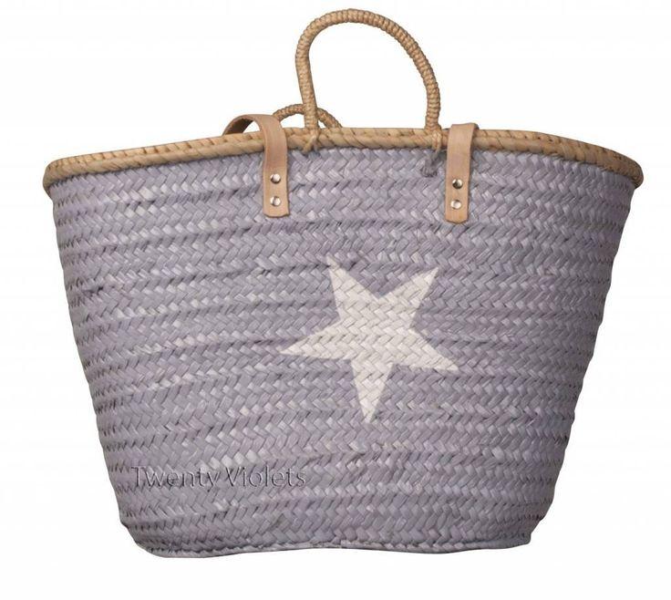20 Violets Mand grijs, ster wit, my beachbag :-)