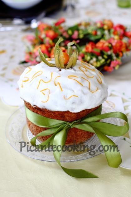 Пасхальный кулич с шафраном и марципаном