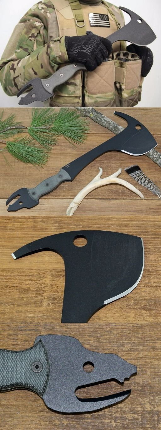 Ontario 8417 Wyvern Crash Axe Hatchet Survival Knife Tool & Sheath @thistookmymoney