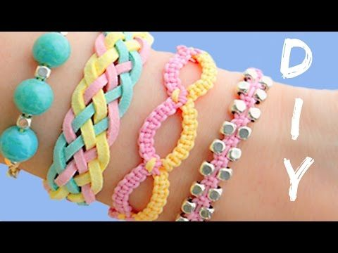 DIY friendship bracelets! 4 Easy Stackable Arm Candy projects! - YouTube