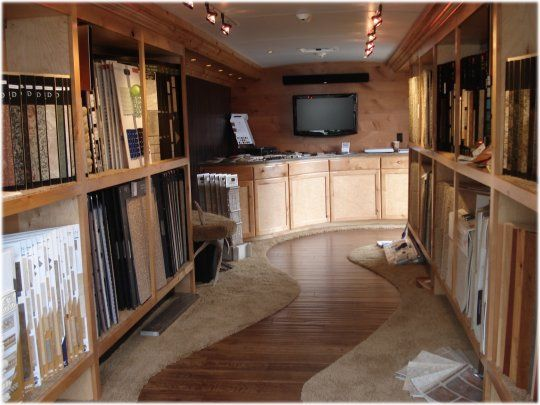flooring showrooms | Inside view of Stewart's Mobile Flooring Showroom.