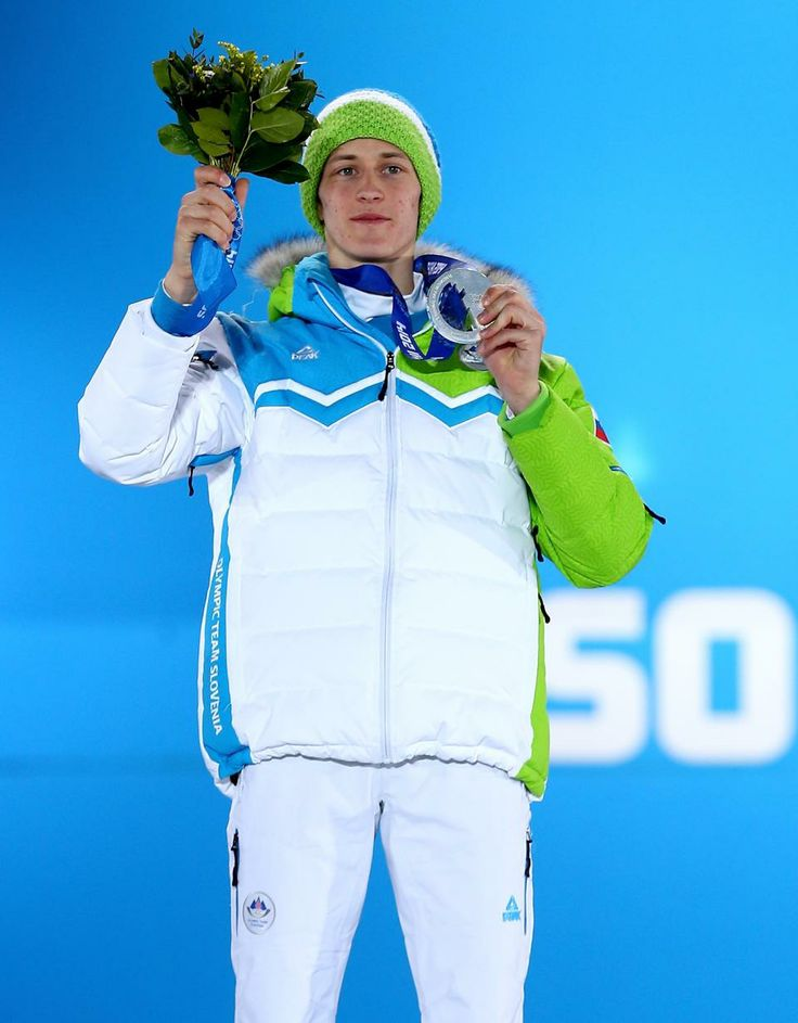 SKI JUMPING MEN'S NORMAL HILL INDIVIDUAL:  Silver medalist Peter Prevc of Slovenia