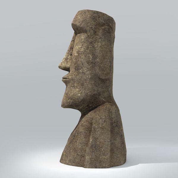 3D Model Moai, Side