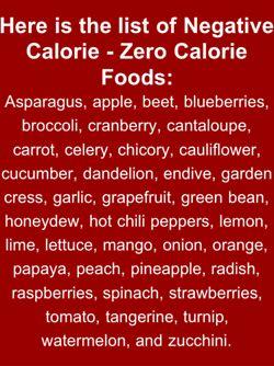 0 calorie foods