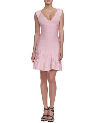 Herve Leger Mirah Puckered-Skirt Bandage Dress from Neiman Marcus #poachit