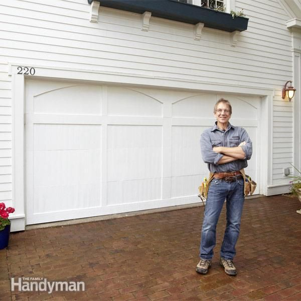 Get the look of a traditional carriage house garage door for Cost to build your own garage
