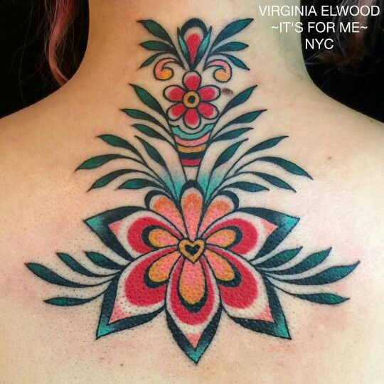 Beautiful flower tattoo by Virginia Elwood | Tattoos