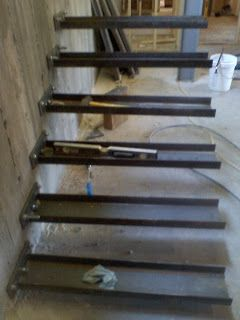 the initial balance test cchannels from concrete wall with epoxy anchors x cedar escaleras