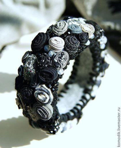 """Браслеты ручной работы. Ярмарка Мастеров - ручная работа. Купить браслет """"Черный блеск"""" с агатами. Handmade. Подарок…"""