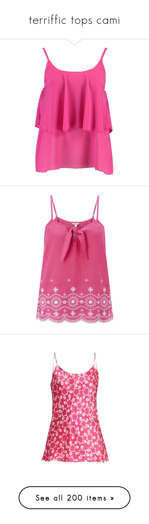 """""""terriffic tops cami"""" by countrycousin ❤ liked on Polyvore featuring intimates, camis, polka dot camisole, polka dot cami, cropped camis, polka dot jersey, cropped camisole, tops, shirts and camisole"""