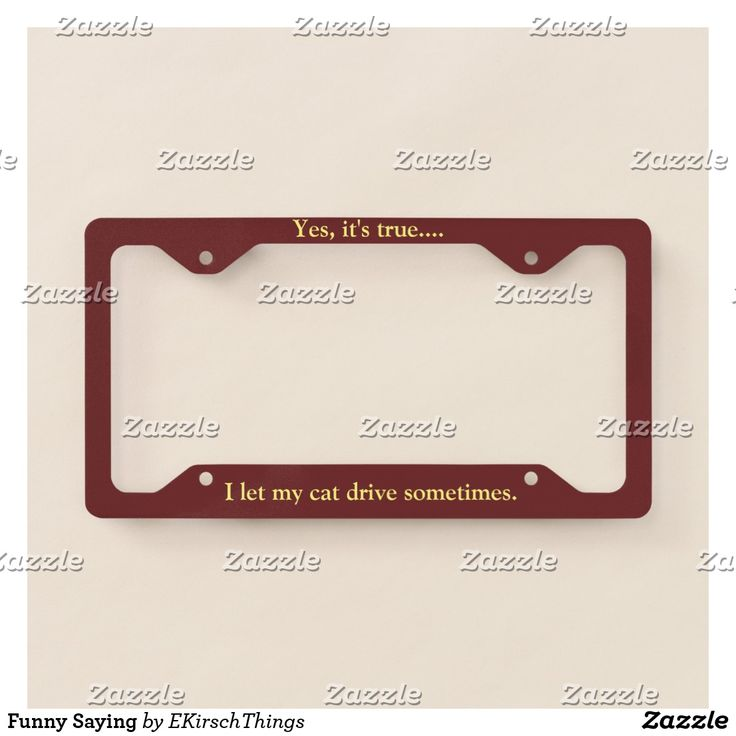Funny Saying License Plate Frame