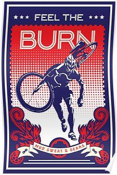 'Feel the Burn retro cycling poster' Poster by SFDesignstudioRedbubble