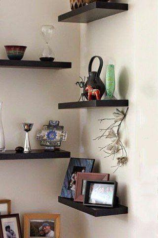 Ideas for corner shelves