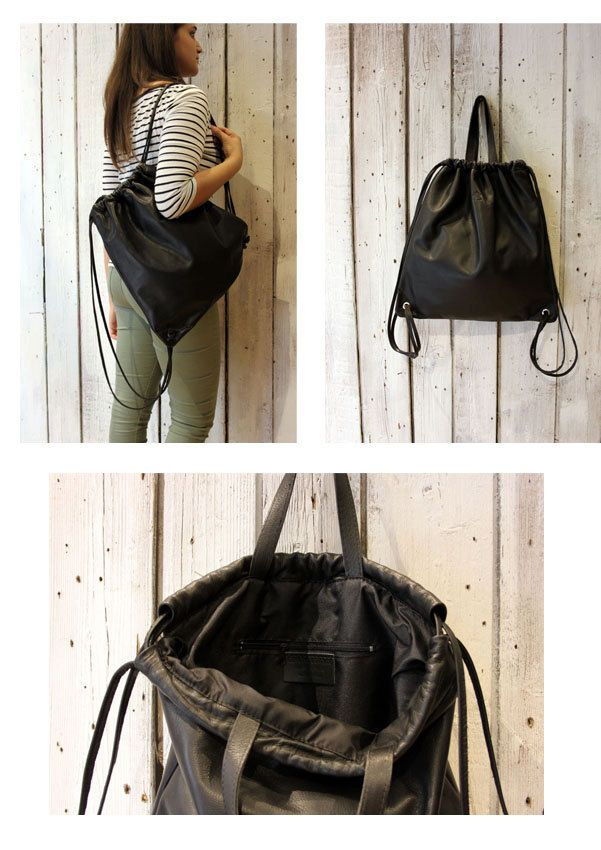 Leather BackPack BASIC , handmade in Italy di LaSellerieLimited su Etsy