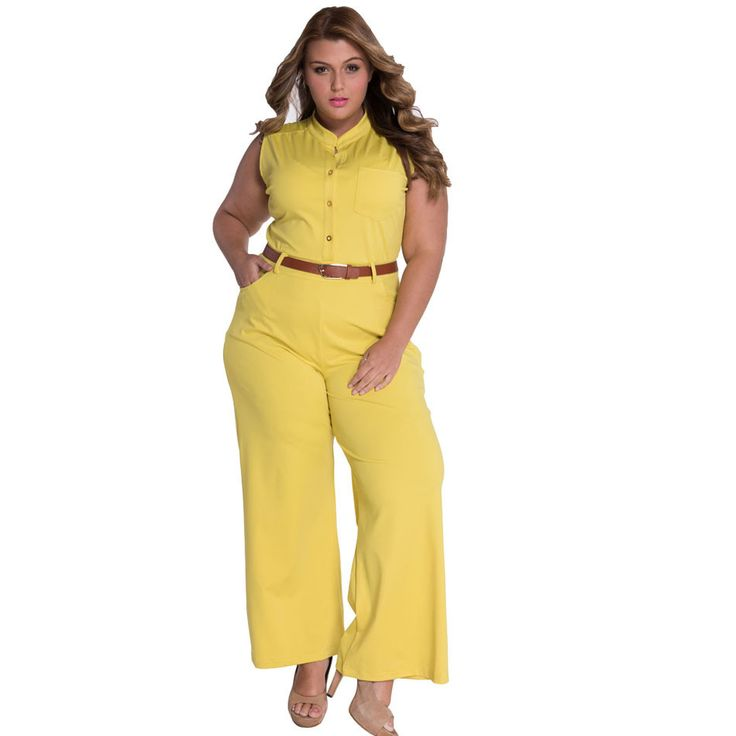 Wide Leg Long Overalls 2016 Summer Rompers Jumpsuit V Neck Sexy Bodysuit Elegant Combinaison Femme Plus Size Playsuit