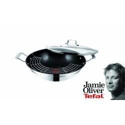 Tefal - Jamie Oliver Wok pan, 32 cm  Check it out on: https://tjengo.com/ovn-komfur/373-tefal-wokpande-32-cm.html?search_query=jamie+oliver&results=14