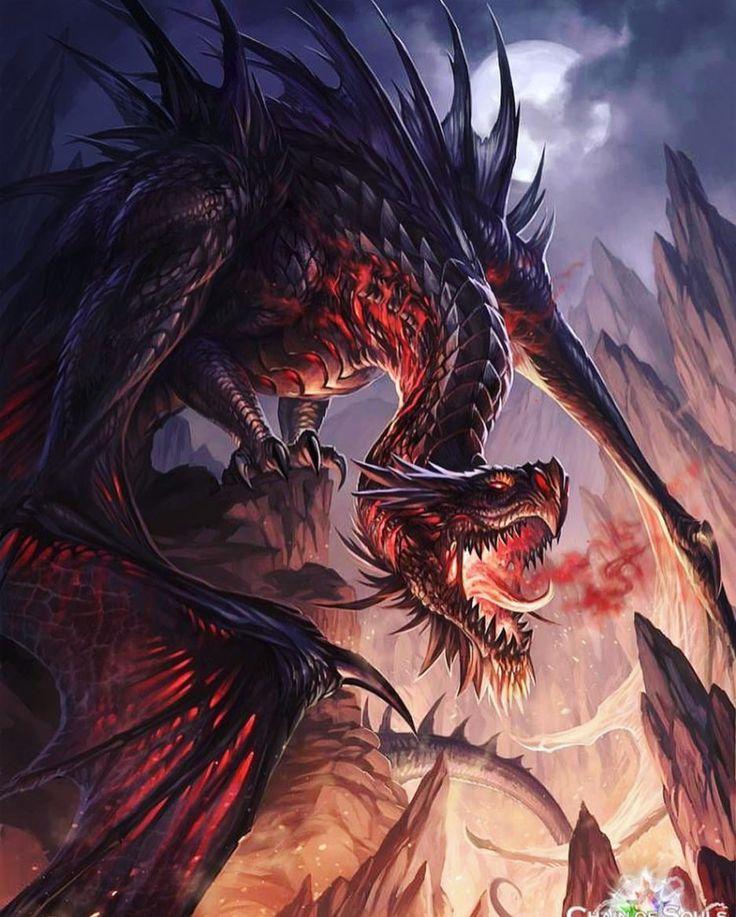 фото драконов злых ножом охотятся