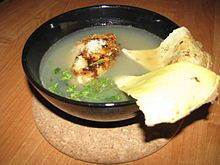 Russian cuisine - a bowl of ukha, made from perch