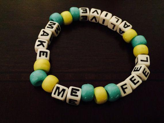Make Me Feel Alive Krewella Kandi Bracelet by KandilandUSA on Etsy