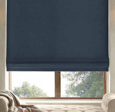 17 best images about roman shades on pinterest hunter for Restoration hardware window shades