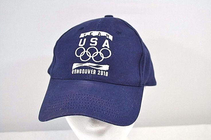 Team USA Vancouver 2010 Blue Games Baseball Cap Adjustable Back #Unbranded #BaseballCap