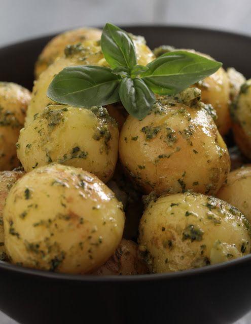 Pommes de terre primeur au pesto , visite matinale au Naschmarkt de Vienne   On dine chez Nanou