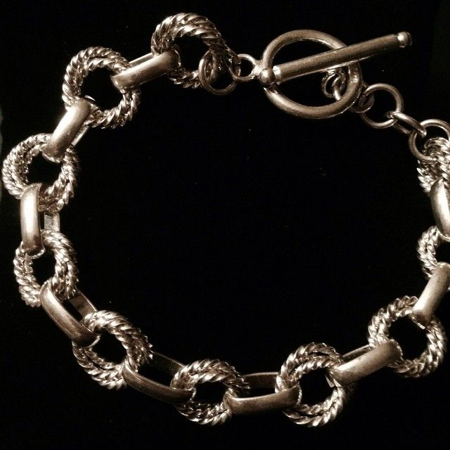 Triple twisted Sterling Silver link bracelet.  One of our favorite pieces!  Regular $30 on sale now thru 8/9 for $25 Place order at: www.SterlingExpressions.org or email us at: SterlingExpressions@yahoo.com