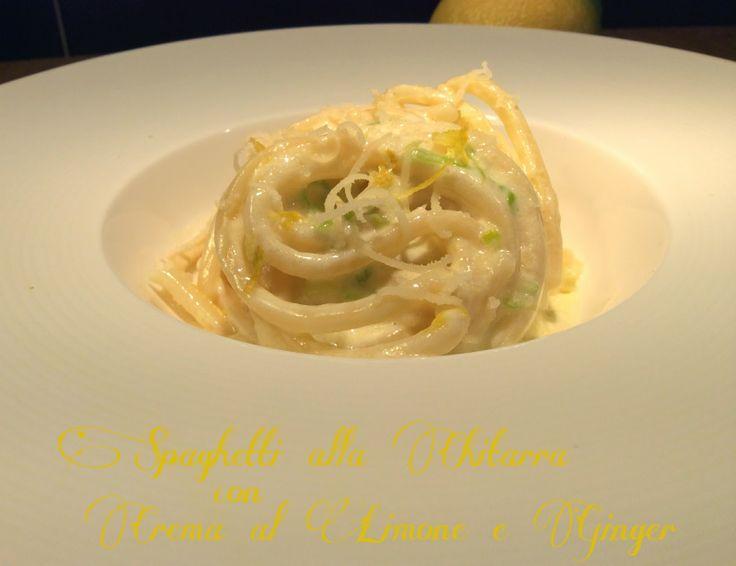 Cucinando tra le nuvole: Spaghetti alla Chitarra con Crema di Limone e Ging...