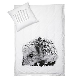 By Nord Cot Doona & Pillow Case - Hedgehog