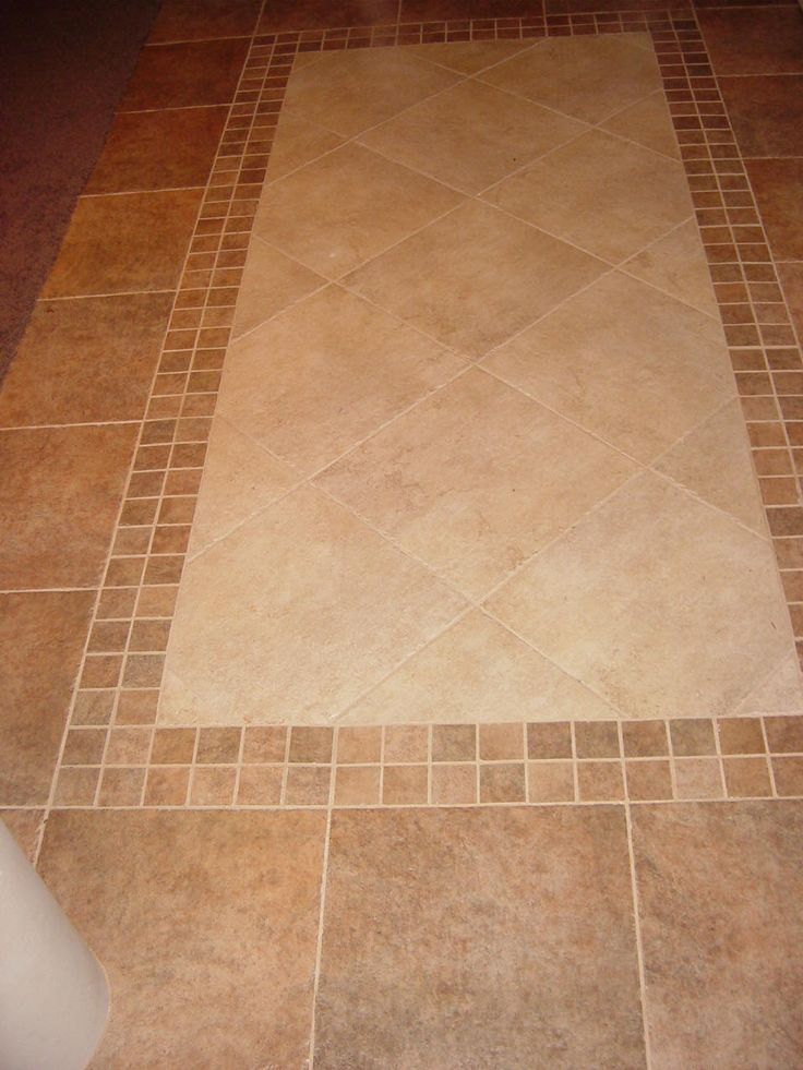 Tile Inlay For Front Entry With Mosiac Border And Lighter Interior  Determining The Pattern Of Tile Floor Designs For Kitchens: Tile Floor  Designs For ...