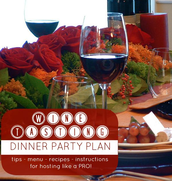 Free eguide to hosting a wine tasting dinner party for Dinner party menus and recipes