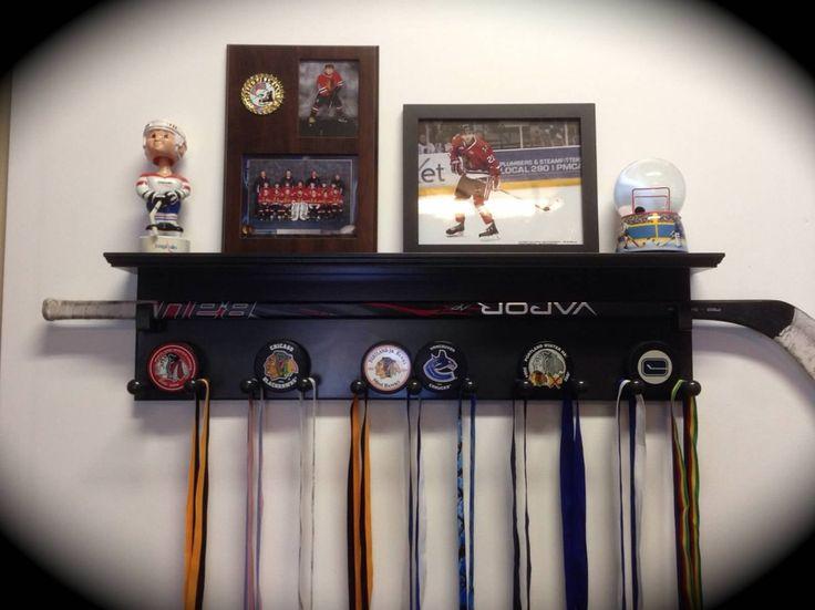 Hockey Display & Awards Shelf by EvolutionSportsUSA on Etsy, $105.00