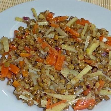 Lencsesaláta zöldségekkel - Zöldséges receptek - Ducika Konyhája magazin - Hotdog.hu