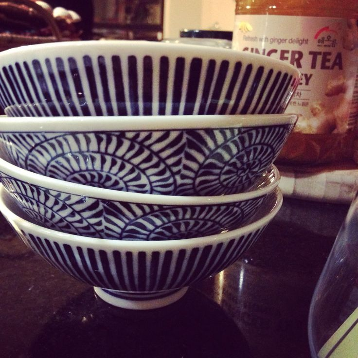 Blue and white bowls from Daiso Dallas