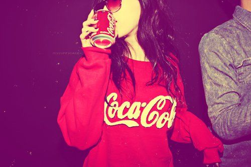 Cute Sweatshirts for Teenagers   coca cola, cool, hoodie, red - inspiring picture on Favim.com