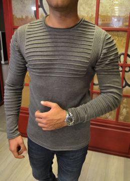 Tarz Erkek Yeni Sezon Gri Sweatshirt