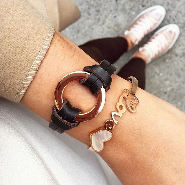 Love Heart Charm Bracelet In Rose Gold - #fashion #style #love #ootd #lookoftheday #fashiontrends #photooftheday - 17,43 € @happinessboutique.com