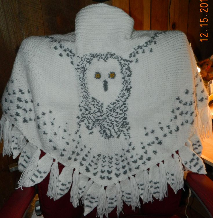 This is a double knit loom version of the Hedwig Shawl ...
